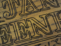 Laser Engraving Detail