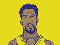 illustration of wilson chander of the Denver Nuggets