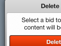 Delete button in popover