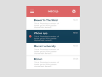 Flat Mail Widget - Inbox