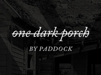 one dark porch