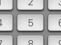 Retina display keypad