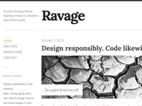 Ravage - Big & Bold WordPress Theme