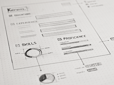 Resume-wireframe