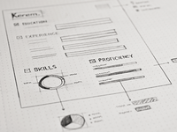 Resume wireframe