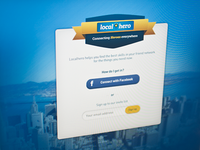 LocalHero sign up design