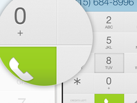 iPhone dial pad