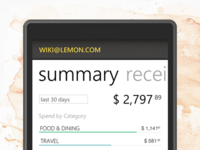 Lemon Receipts for Windows Phone
