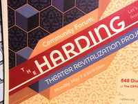 SF Harding Theater Revitalization Project community forum flyer