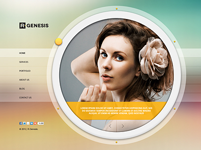 R.Gen - Circle Creative PSD Template