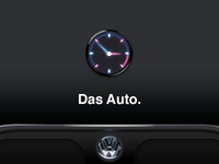 Clock for car theme