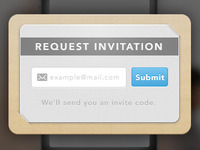 Invitation request form.
