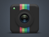 Instagram Camera Dark Icon