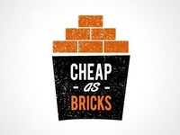 Cheap as bricks logo