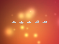 Weather Icons Dribbble