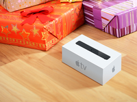Apple TV Set-top Device Box Render