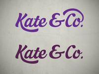 Kate & Co. Logo concept #2