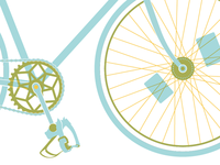 PG bike print in progress