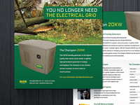 The Champion 20KW Handout