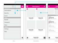 Podcast Client Wireframes