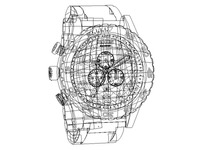 Illustrator Vector watch (Stroke view)