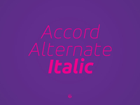 Accor Alternate Thin Italic