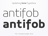 Weights - Sone Typeface Update in Progress