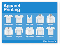 Apparel Printing Icons