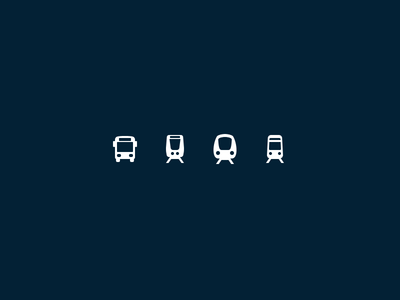Stockholm Transportation Pictograms