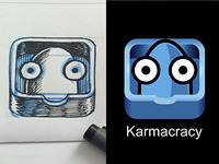 Iphone icon WIP for Karmacracy