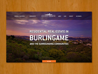 Burlingame Properties web design