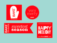 holiday bakery stickers!
