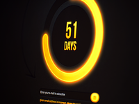 Circle Countdown Timer Yellow