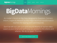 Big Data Mornings Website