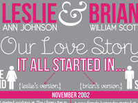 Love Story Infographic Save the Date