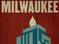 Milwaukee Wisconsin Gas Building Poster