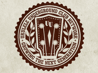 Ukulele Underground Badge Sticker | Final