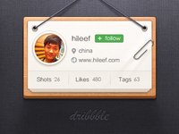 Dribbble About Me Widget