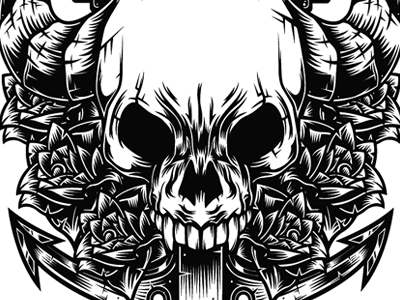 Evil Skull Coloring Pages Demon skulls colouring