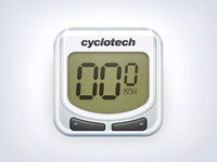 Bicycle Speedometer iOS icon