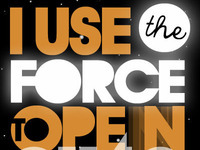 I use the Force to open automatic doors