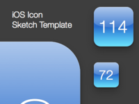 iOS Icon Sketch Template