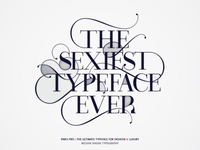 Paris Pro - The Sexiest Typeface Ever!