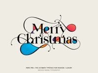 Merry Christmas - Made with Paris Pro Typeface