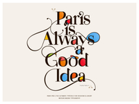Made with the new Paris Pro Typeface by Moshik Nadav