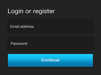 Updated: Login or Register PSD Freebie