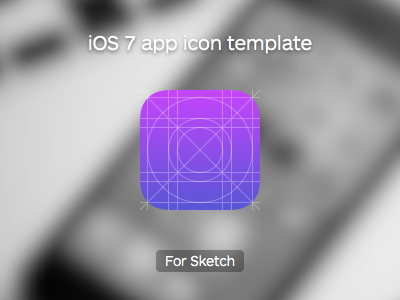 Download iOS 7 App Icon Template (Sketch app)