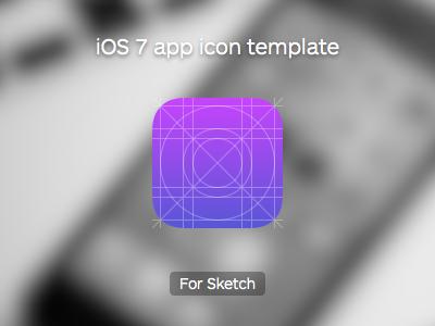 Download iOS 7 App Icon Template (Sketch app)