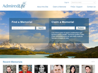 Memorial Website - Homepage