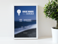 """Great minds..."" quote poster"